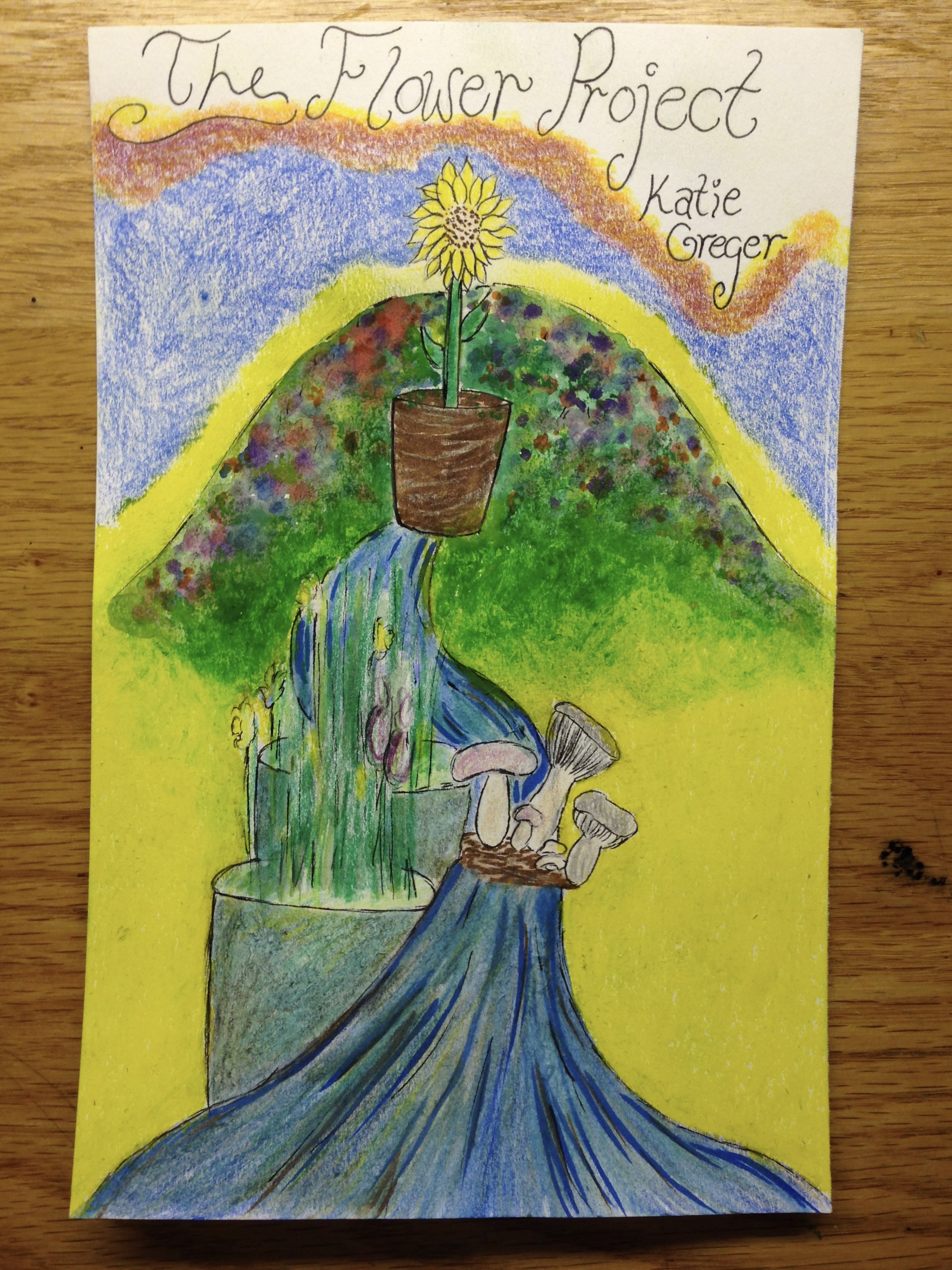 An artistic representation of the Flower Project by Katie Greger