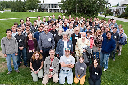 Well, okay. Maybe these people are not ALL our collaborators. But we wish they were. They are actually participants at the fifth international conference on stickleback behavior and evolution, Anchorage, Alaska, 2006.