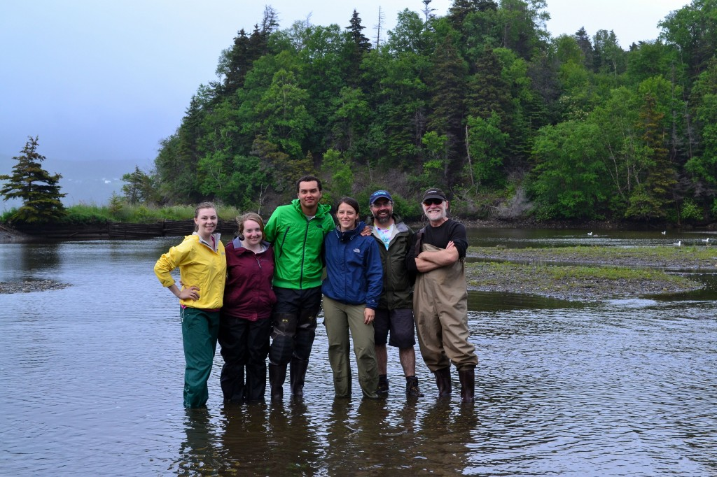 The all-star crew after successful search at Cook's Brook. From left to right: Emma, Jenna, Jason, Melissa, Bob, Eric