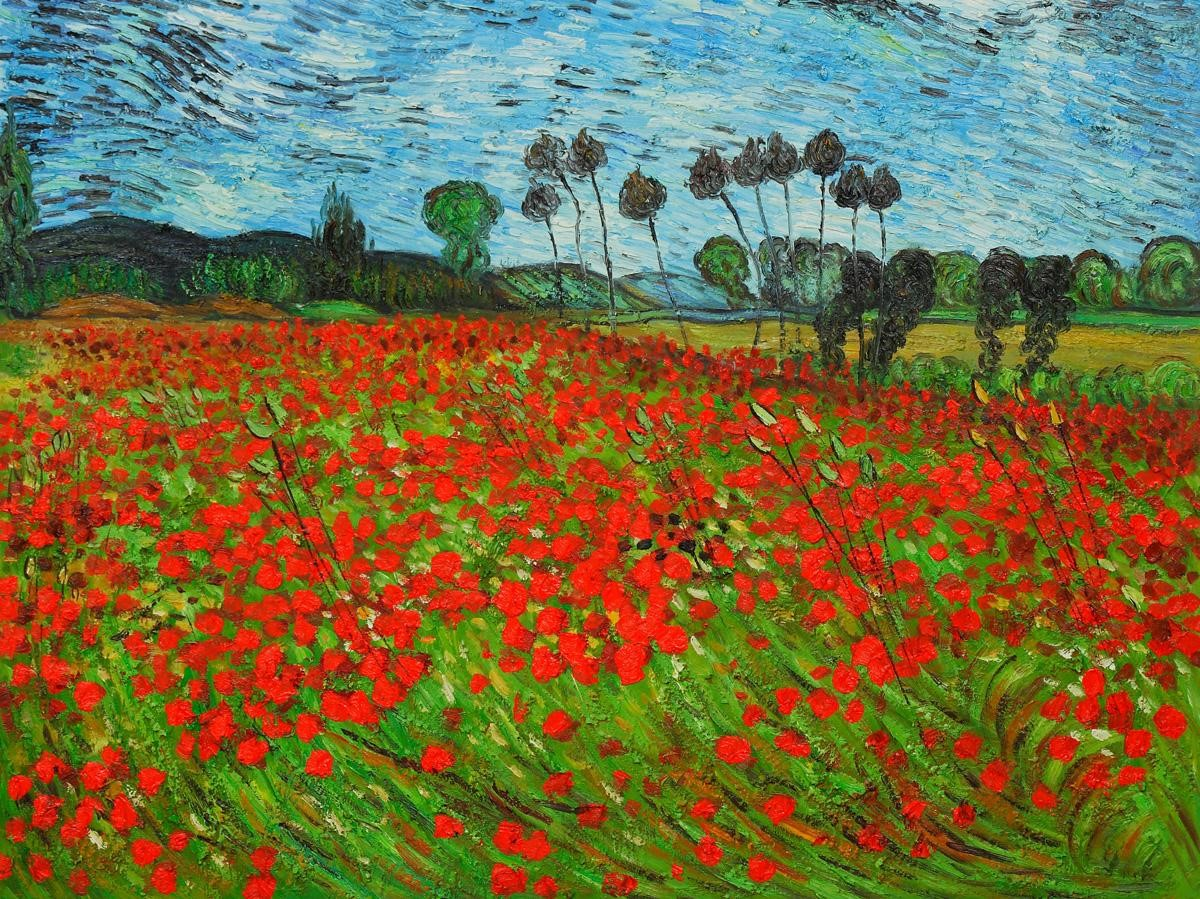 Van Goghs Field Of Poppies