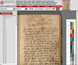 The Andover manuscript is one of many such digitized resources freely available via the Harvard University library catalog.