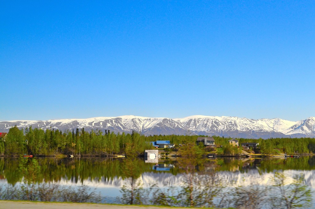 Lake Wasilla and the Chugach Mountains in the background