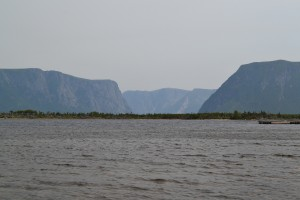 The view of the fjord of Western Brook from the snorkeling site