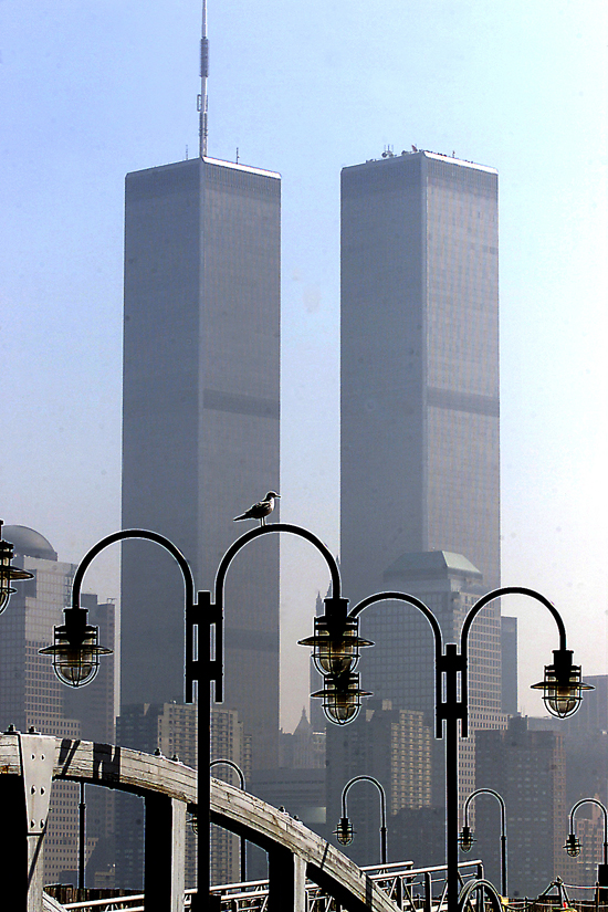 World Trade Center twin towers, pre-attack.