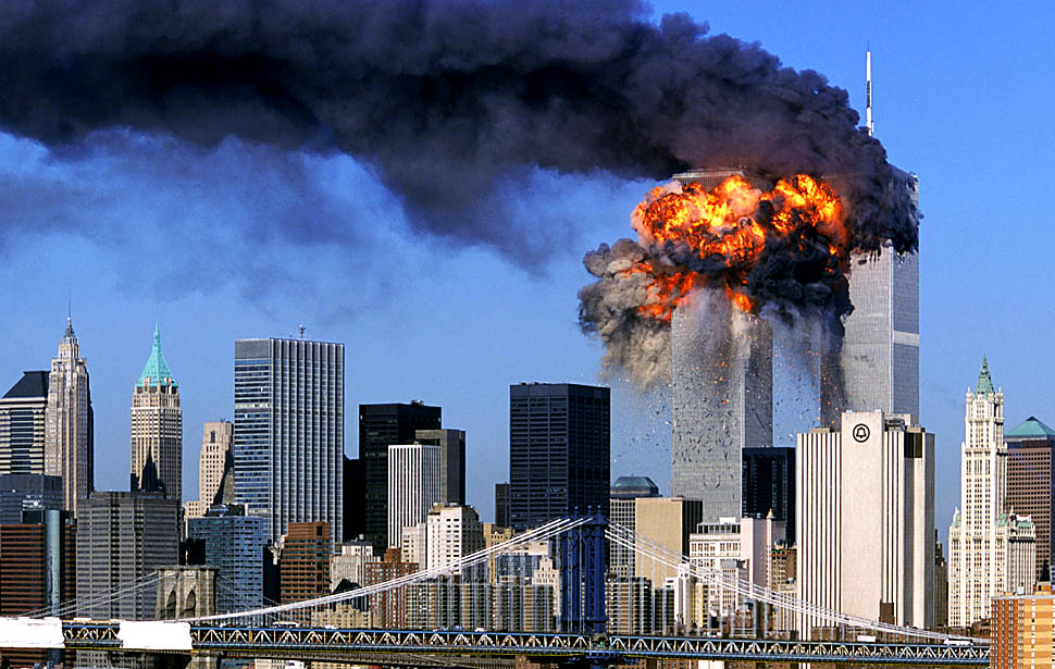Attack on the Twin Towers, NYC.