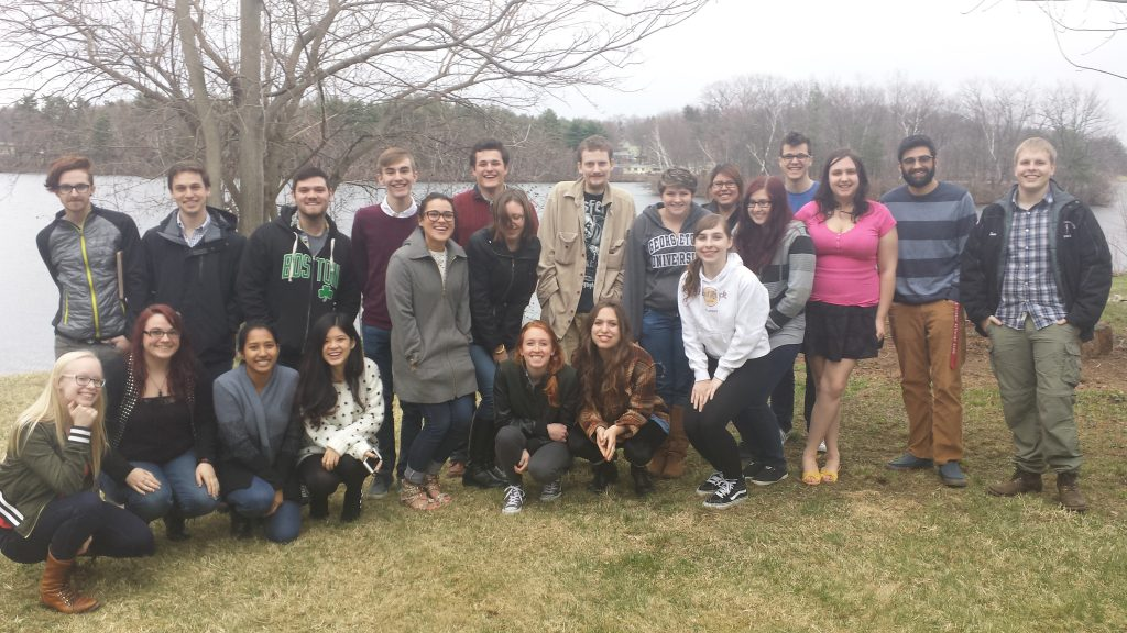 Last Day of Class at the Professor's House on Coe's Pond.